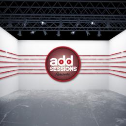 Criação e aplicação da logomarca AddMúsica no fundo do palco.