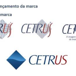 Transição do logo do Cetrus até a última versão, desenvolvida pela Oribá.