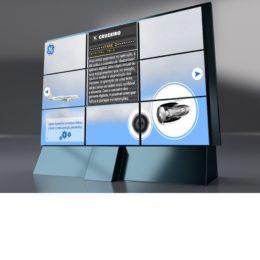 Identidade visual para campanha online da GE.