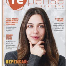 Capa da primeira edição da Revista Repense, de Multibenefícios.