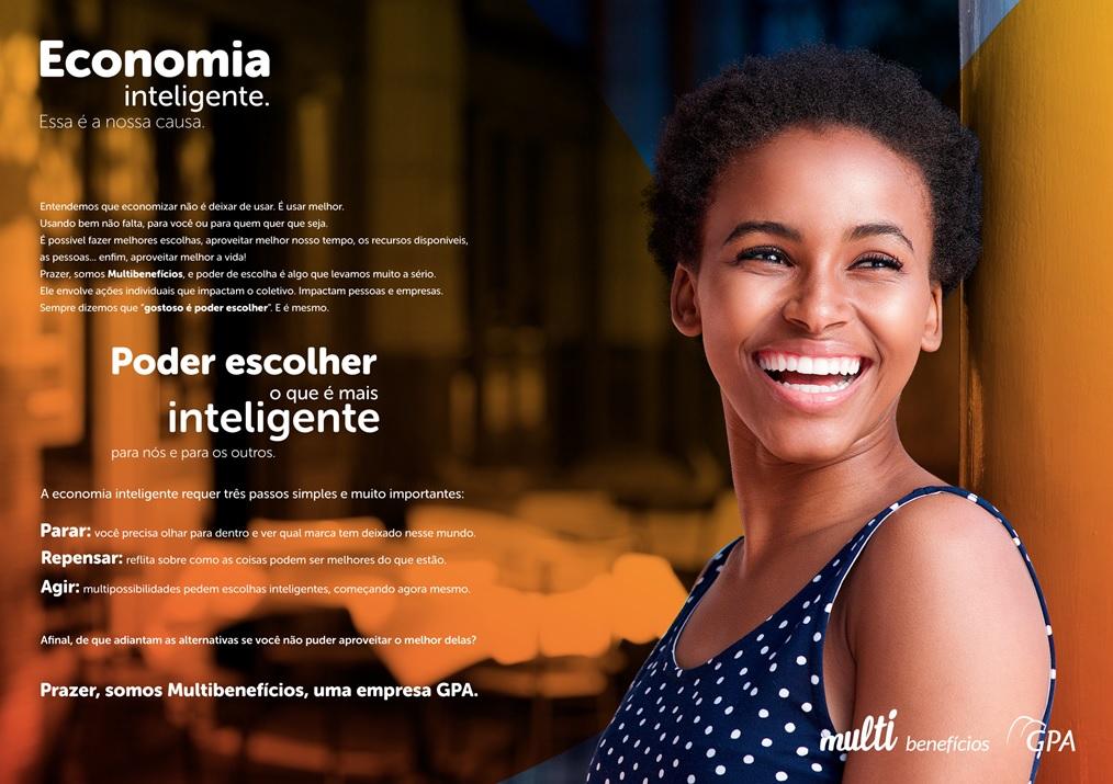Anúncio de apresentação de Multibenefícios na primeira edição da Revista Repense.